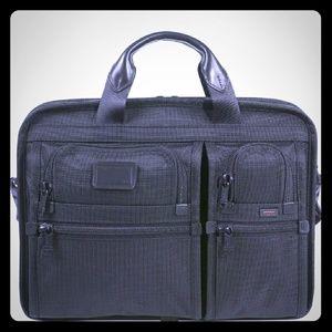 Tumi Alpha 2 T-Pass Laptop Bag Briefcase Black